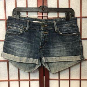 TopShop Moto Denim cuffed Shorts Size 6